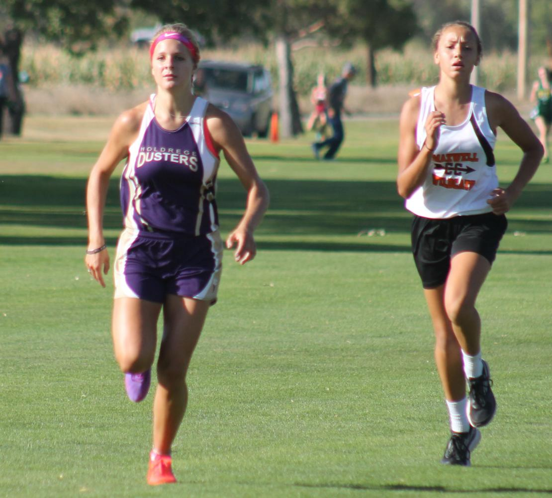 Baylee Barnett races to the finish during a recent meet.