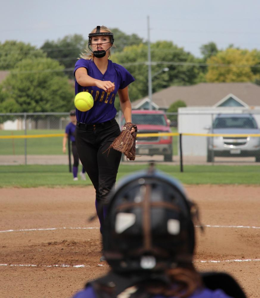 Grace Townsend pitches during a recent home game.
