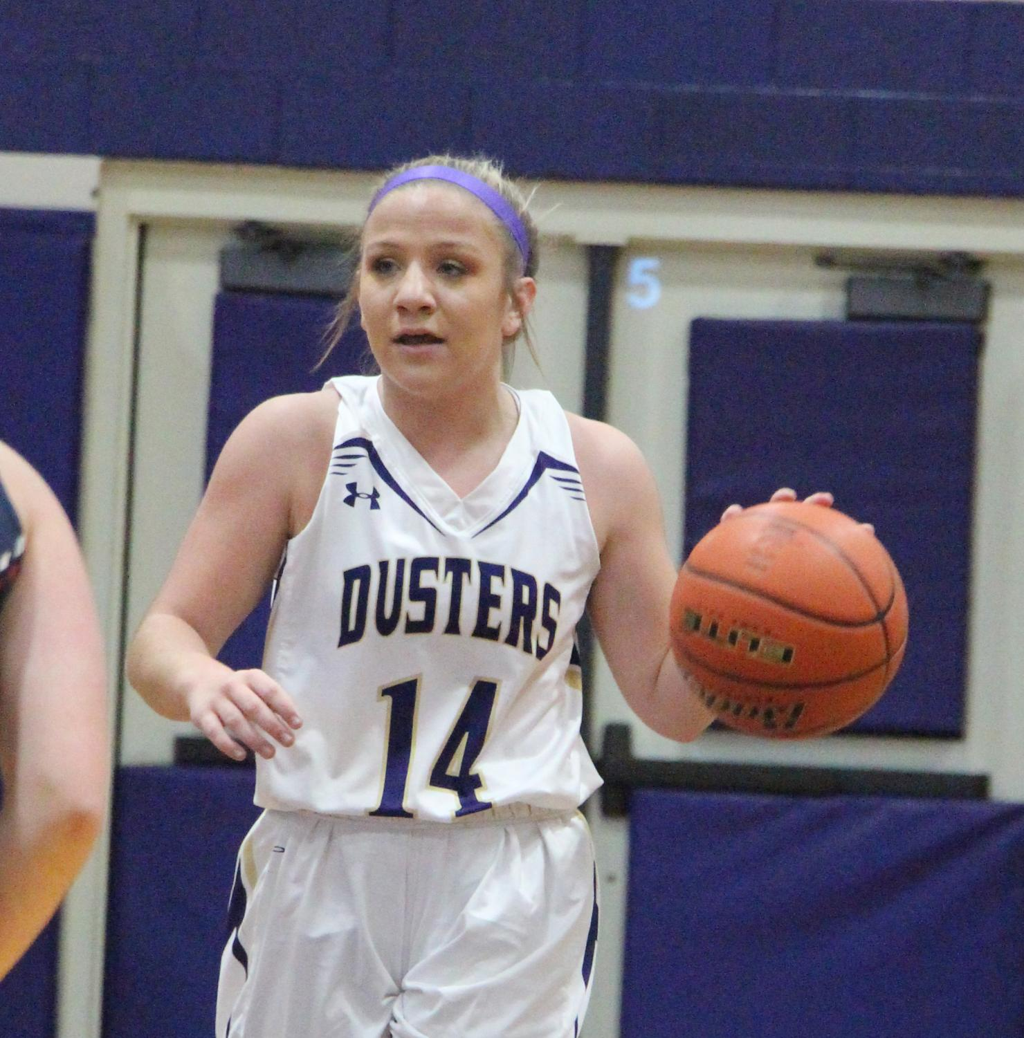 Point guard Taylor Wiser sets up the offense in an earlier game this season.