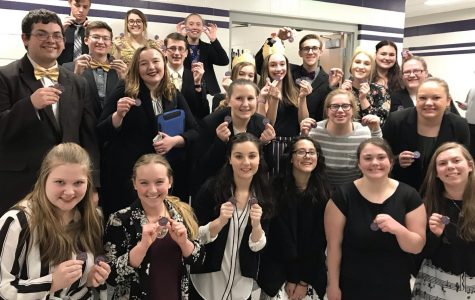 Speech Team Earns Twenty-six Medals at Minden Meet